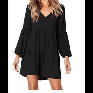 Women's casual dress ruffle loose